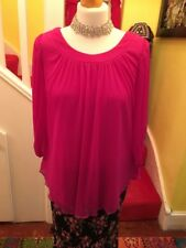 BNWT Ladies Pink Lined Chiffon Style Blouse Size 10 By New Look