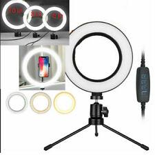 LED Anello Luce Lampada Selfie Fotocamera Cellulare Studio Treppiede Foto Video