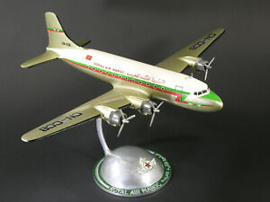 ROYAL AIR MAROC DC4 DOUGLAS AIRLINES C° WOOD AND ALUMINIUM  DESK AGENCY