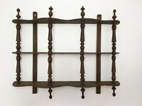 Antique Kitchen Spices Wooden Wall Rack for Restoration