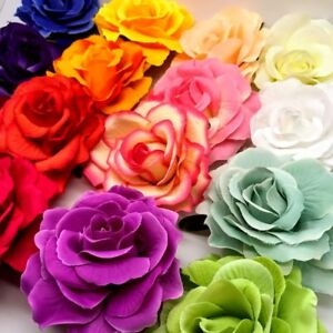 Women's Cloth ROSES Hair Clip Flowers Corsage Brooch Style FREE UK DELIVERY