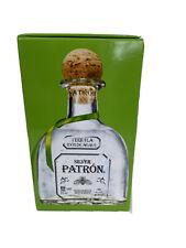 Lot 2 Silver Patron Tequila Original Green Empty Boxes