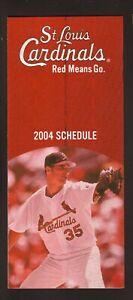 St Louis Cardinals--Matt Morris--2004 Ticket Brochure/Schedule