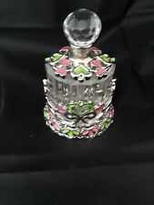 Taylor Avedon Rhinestone Enamel Crystal Glass Perfume Bottle New in Box