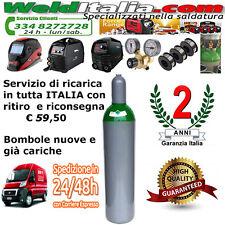 BOMBOLA RICARICABILE 14 LT. 200 BAR MISCELA ARGON CO2 SALDATRICE FILO EE CARICA