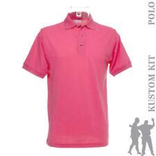 Maglie e camicie da donna rosa in poliestere con colletto