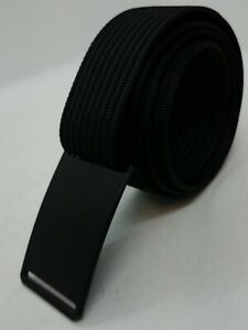 Grip6 Men's Black Ninja Belt Buckle w/Black Web Strap Sz 42 NEW