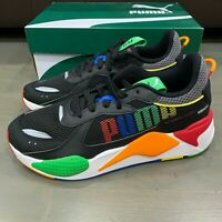 Puma RS-X Bold Puma Black Green Orange Red 372715 01 Men's Size 9.5 New Running