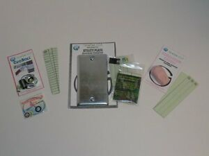 Magnetic Natural Bolt, Utility Plate & Gum Geocache containers Cache Geocaching