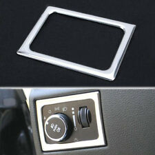 Front Headlight Lamp Switch Frame Cover Trim Steel For Jeep Grand Cherokee 11-16