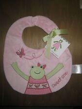 Kelly Rightsell Hattie Pink Girl Frog Baby Bib New