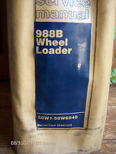 CAT Caterpillar SERVICE MANUAL 988B Wheel Loader Repair & Maintenance    Lot#677