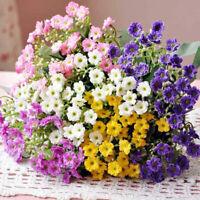 6 Heads Artifical Silk Flowers 1 Bouquet Fake Flower Decors Party Wedding P1C0