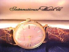 INTERNATIONAL WATCH CO SCHAFFHAUSEN 14K GOLD 50 YR 1967 RETIREMENT WRISTWATCH