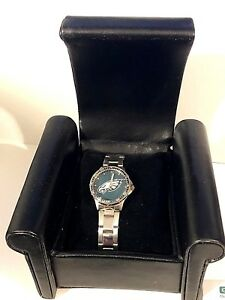 PHILADELPHIA EAGLES Game Time NFL Ladies WATCH Coach Series NEW in RECLINER BOX