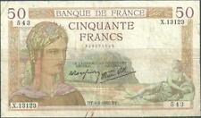 50 FRANCS CERES - 4.4.1940 - Billet de banque français (TB)
