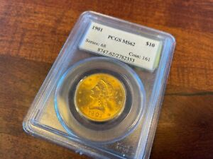 1901 $10 PCGS MS62 Liberty Gold Eagle Ten Dollar