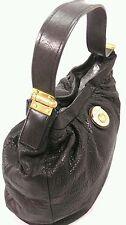 Marc By Marc Jacobs Black Pebbled Leather Hobo Handbag