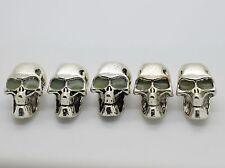5pc Metal Skull  Paracord Lanyards Backpacks - Custom Edc Bushcraft & Survival