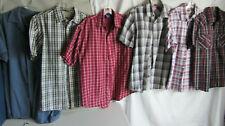 Lot of 6 Men's Sonoma Hawk Sideout Short Sleeve Button Plaid Shirts Medium GUC