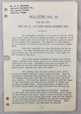 1939 Antique John Deere Bulletin / New No 14 Jd Hammer Mill