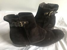Louis VUITTON Boots Dark Brown Suede Leather Mens US Size 12