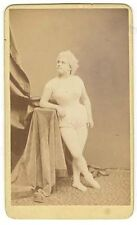 *BURLESQUE:1868 SCANTILY DRESSED ACTRESS CDV LYDIA THOMPSON'S BRITISH BLONDES?*