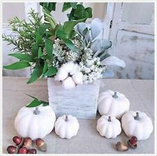 12 Pcs Halloween White Artificial Pumpkins Harvest Fall Thanksgiving Home Decor