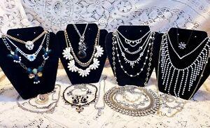 24 Piece Vintage and Modern Rhinestone Necklace Lot - Monet