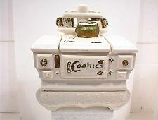 COOKIE JAR COOK STOVE MCCOY WHITE GOLD cookstove VINTAGE USA