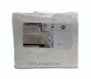 Hotel Collection Artisan Off White Full / Queen Duvet Cover BRAND NEW