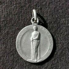 médaille religieuse Jeanne D'arc en argent massif signée EC André Besqueut