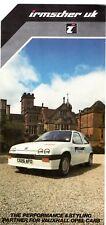 Vauxhall Opel Irmscher Body Styling Accessories 1986 UK Market Foldout Brochure