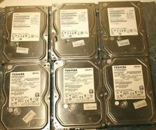 "Toshiba/Hitachi 3.5"" SATA hard drives - 500GB - USED (lot of 6)"