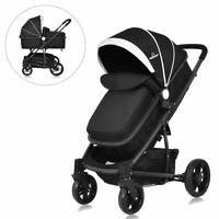 3 In1 Foldable Baby Kids Travel Stroller Newborn Infant Pushchair Buggy Black