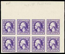 535, Mint Superb Nh 3¢ Imperforate Block of Eight - A Gem - Stuart Katz
