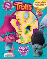 Trolls Stuck on Stories Book with 10 Toy Suction Cups & Board Game by DreamWorks