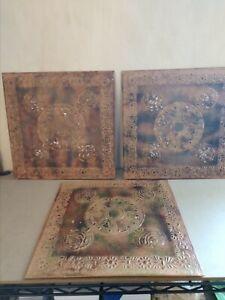 Set Of Decorative Tin Tiles
