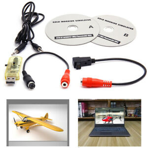 22-in-1 USB Flight Simulator Wire Dongle For RC Helicopter Aeroplane RealFlight