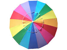 SHELTA MANLY 220Cm Beach Shade Umbrella Tilt 98% UV UPF50+ RAINBOW