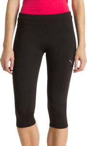 Puma 3/4 Womens Knitted Running Tights - Black