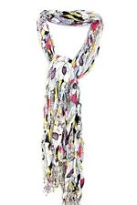 UNQIUE GRAPHIC PRINT LADIES FLORAL THEME SILVER LINED COLORFUL WINTER SCARF(MS9)