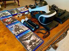 PlayStation 4 500GB w Ctrl, VR Headset, PS Camera, 2 Move Motion Ctrls, 6 Games