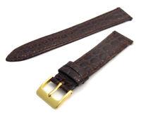 Croc Grain Leather Watch Strap Men's Size 16mm - 20mm Choose Your Colour D033