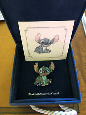 Disney Swarovski Crystal Sitting Stitch Puppy Pin Brooch Limited Edition 1500