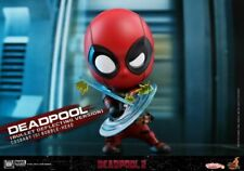 Hot Toys Deadpool Cosbaby COSB507 Bullet Deflecting Collection 4in Mini Figures