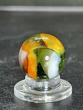 "Peltier Rainbo Marble Peltier Sunset ? Clown Marble Vintage Marble 0.591"""