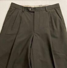 "EUC Men's Pronto-Uomo Comfort Stretch Wool Dress Slacks Size 30x30.5"" Charcoal"