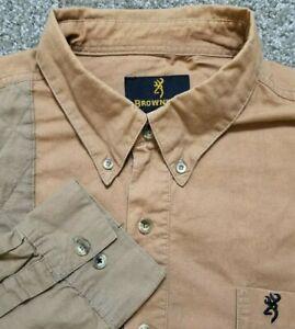 Browning 2XL Hunting Button Down Shirt Tan
