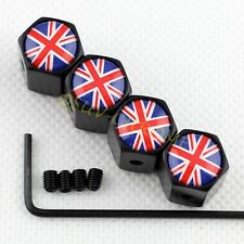 Tire Valve Dust Caps Cover Antitheft For England Britain Kingdom British UK Flag
